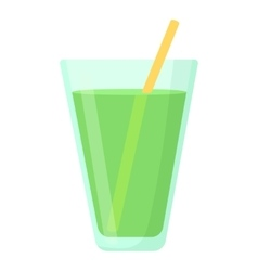 Juice in glass icon cartoon style vector