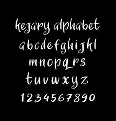 Kejary alphabet typography vector