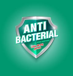 Logotype antibacterial 3 vector