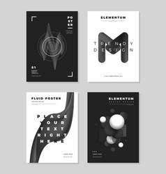 Modern abstract cover design templates vector