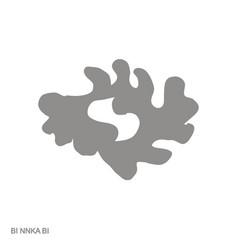 Monochrome icon with adinkra symbol bi nnka bi vector