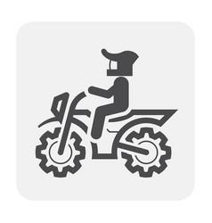 motocross icon black vector image