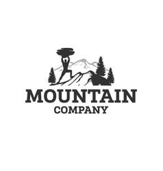 mountain sports logo designs vector image