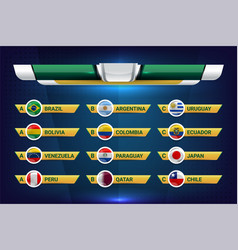 national teams south america vector image