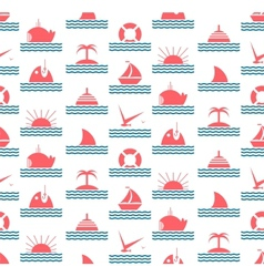 Nautical and Sea Seamless Pattern vector