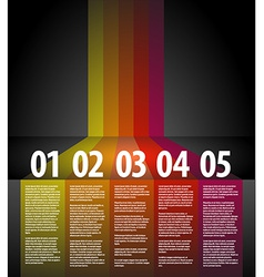 One two three four five - progress background vector