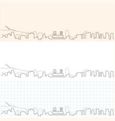 oslo hand drawn skyline vector image