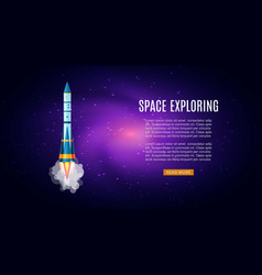 outer space exploring with galaxy cosmos vector image