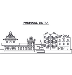 Portugal sintra line skyline vector