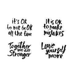 Quotes love yourself more vector