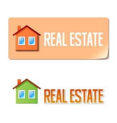 Real estate banner with house icon vector image