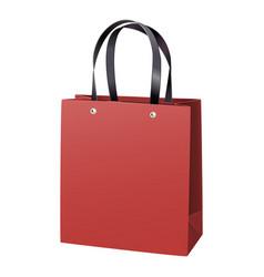 Red paper bag vector