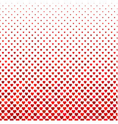 Repeating red heart background pattern - love vector