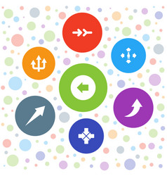 right icons vector image