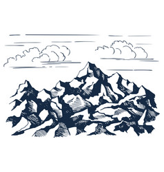 rocks sketch vector image