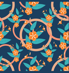 seamless tropical pattern with flowers vector image