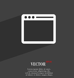 Simple Browser window symbol Flat modern web vector image