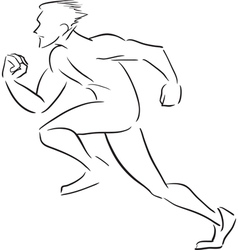 Symbolic rapidly running man vector image