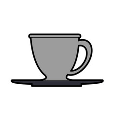 Tea cup and plate icon image vector
