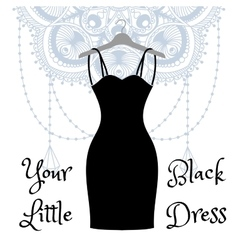 The little black dress hanging on a hanger vector image