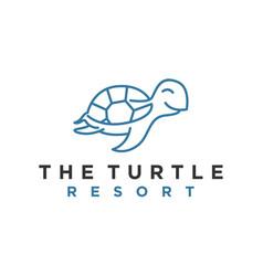 Turtle resort animal sea wild wildlife modern vector