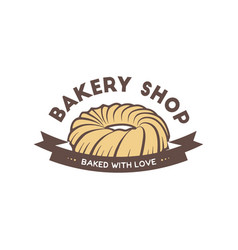 vintage style bakery shop simple label badge vector image