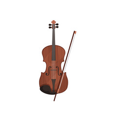 violin musical instrument on a vector image