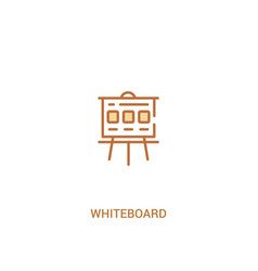 Whiteboard concept 2 colored icon simple line vector