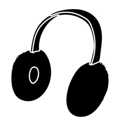 Winter earmuffs icon simple style vector