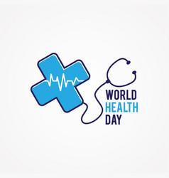 world health day flat vector image