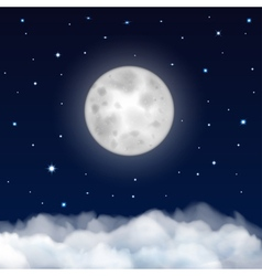 Background of night sky vector image vector image