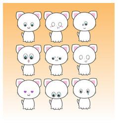 Cat emoticons vector