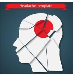 headache migraine or vector image vector image