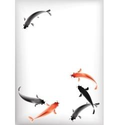 Koi carps pond vector image vector image