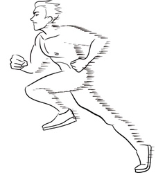Symbolic running man vector image vector image