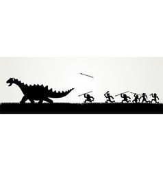 Dino Hunting vector image
