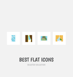flat icon frame set of glass frame clean curtain vector image vector image