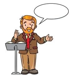 Funny university lecturer or teacher vector