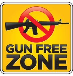 Gun free zone sign assault rifle vector