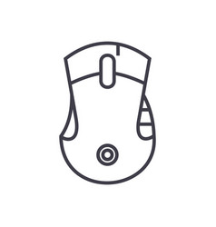 mouse line icon sign o vector image