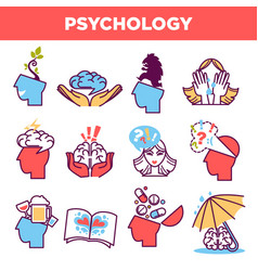 Psychology abstract symbols and conceptual vector
