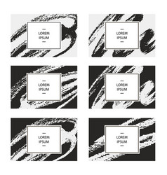 set of business cards for corporate vector image