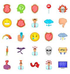 strain icons set cartoon style vector image vector image