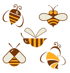 set of signs bee vector image vector image