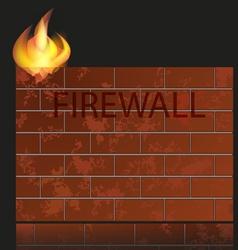 firewall icon vector image vector image