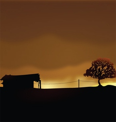 Lonely house vector image