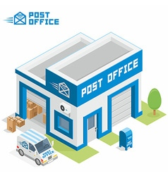 Post office building vector image