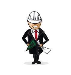 Professional architect man cartoon figure vector image