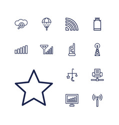 13 mobile icons vector