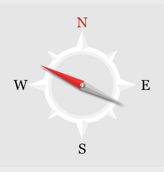 3d arrow compass on a white background compass vector image
